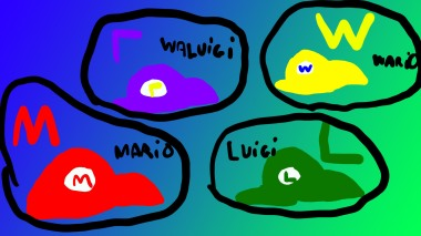 Mario-Luigi-Wario-Waluigi hats